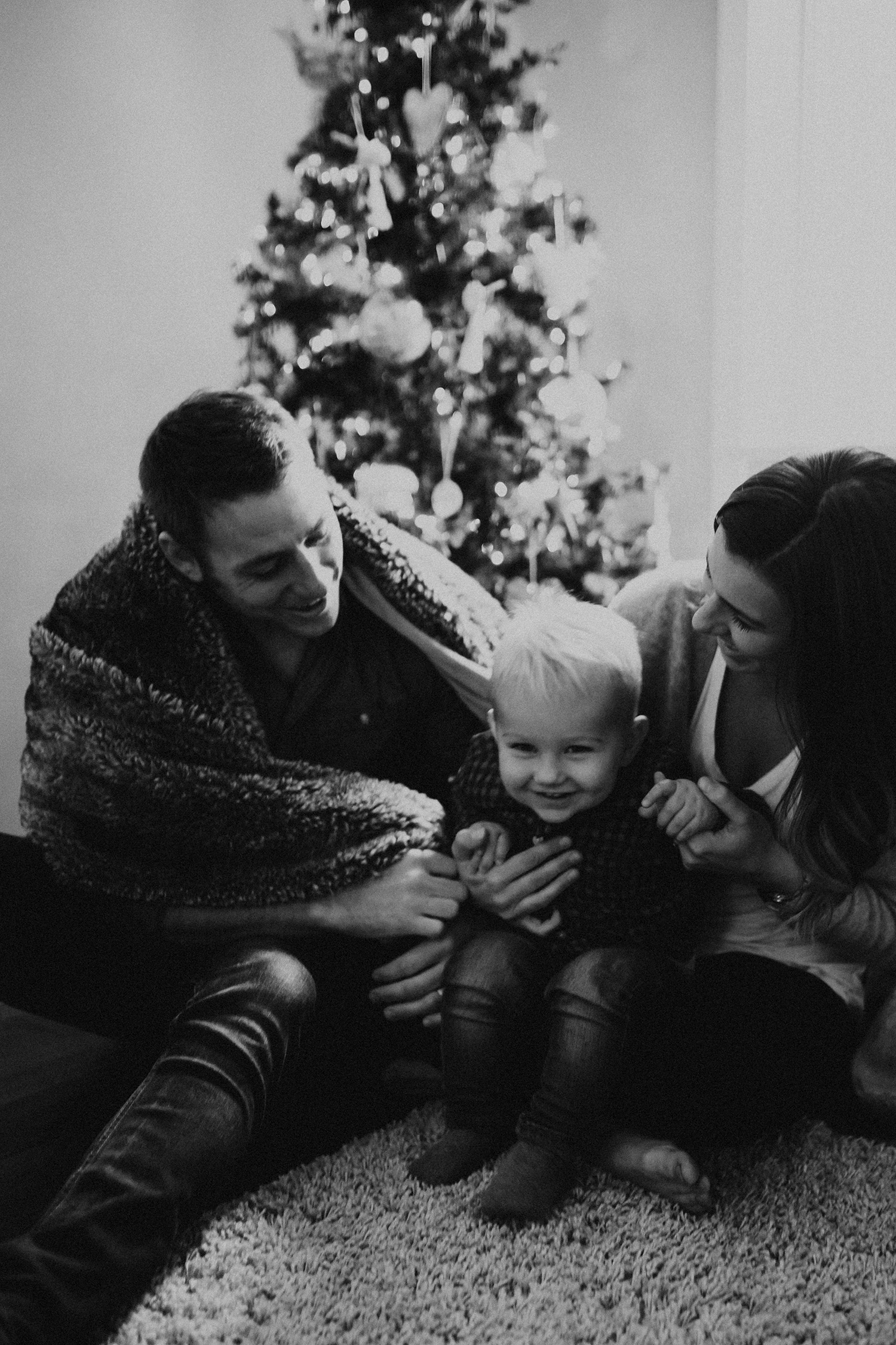 In-home Christmas Family Photos