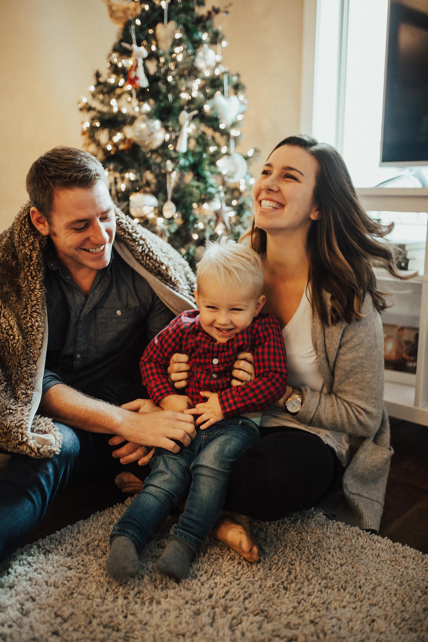 In-home Christmas Family Photos