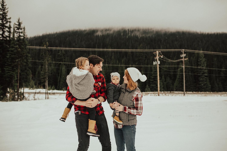 Winter Family Photos at Big White