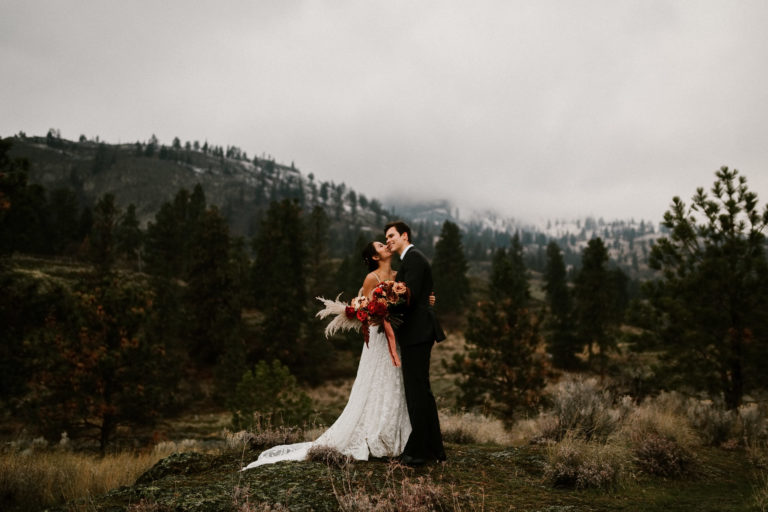 Kelowna Fall Lakeside Elopement