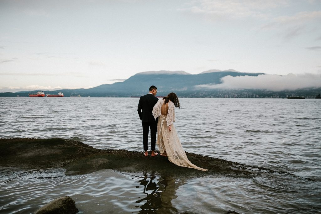 Vancouver Elopement Photographer near Kits Beach