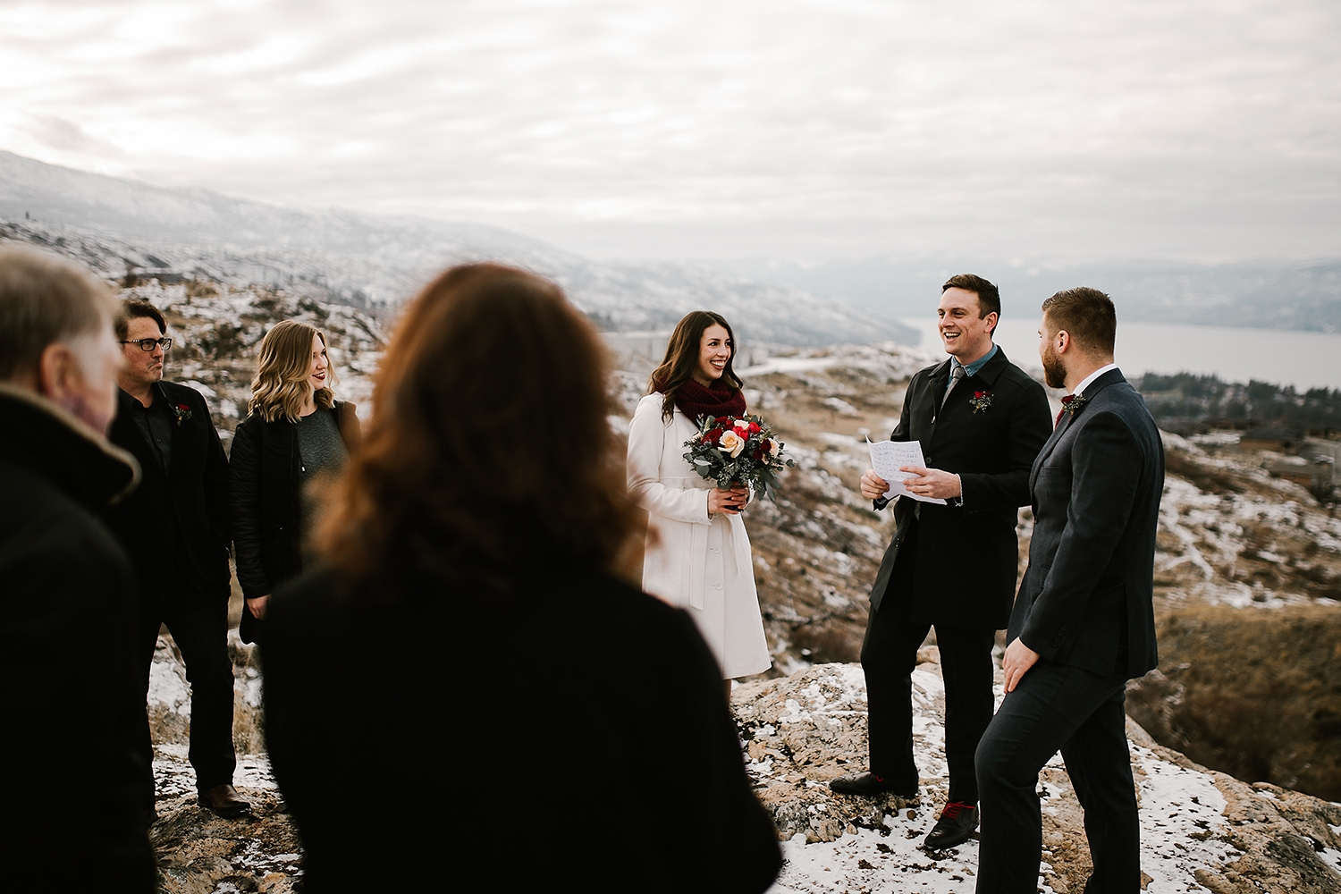 Winter Mountain Elopement in Kelowna BC