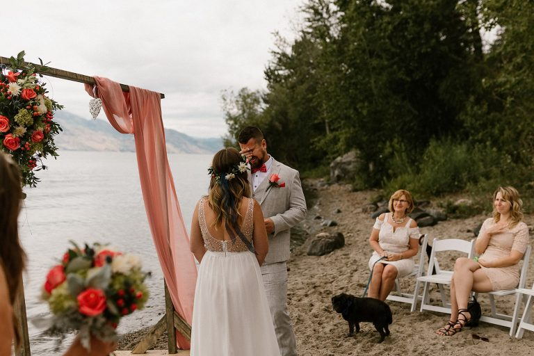 intimate wedding ceremony in west kelowna
