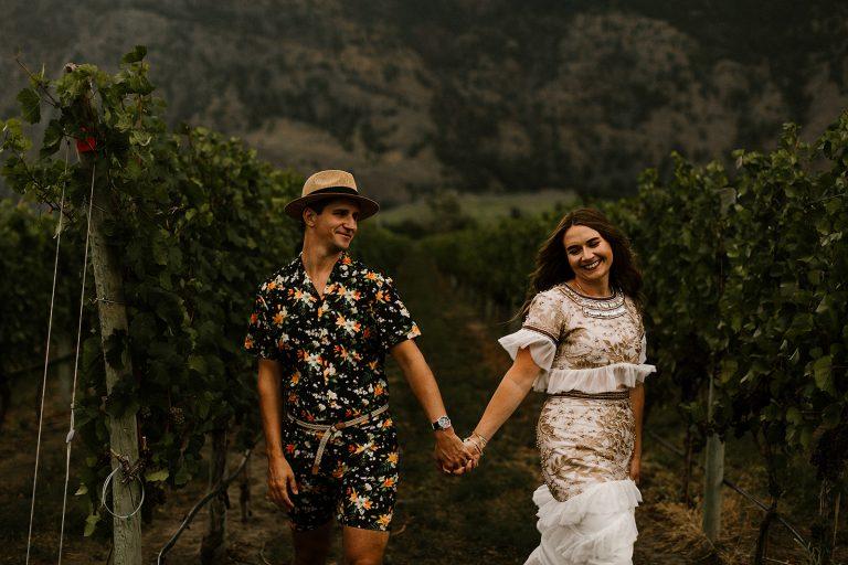 Intimate boho wedding in Cawston British Columbia