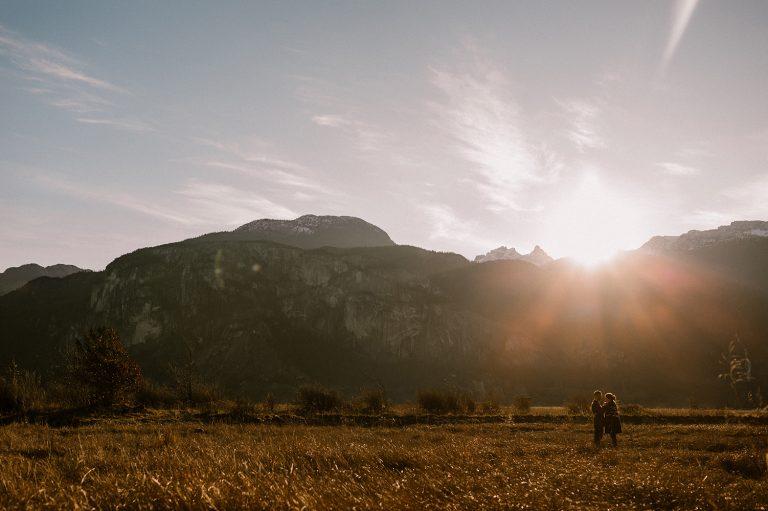Squamish sunrise engagement photography