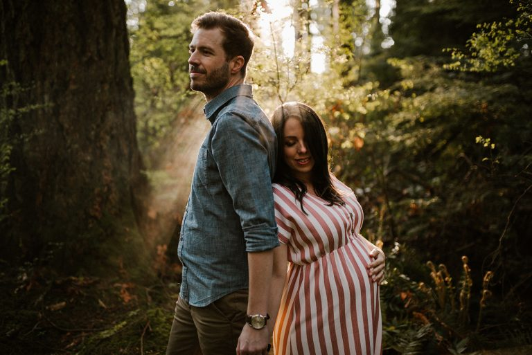 Vancouver Maternity at Pacific Spirit Park by Abigail Eveline Photography