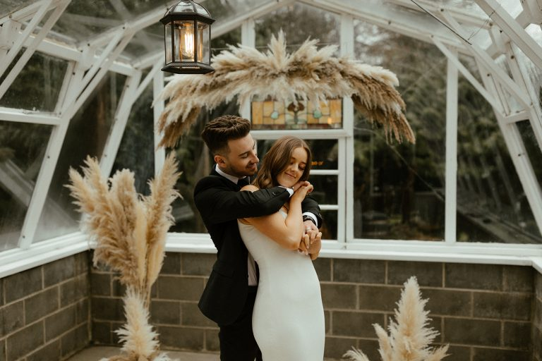 The Greenhouse Abbotsford Intimate Wedding Bride and Groom Candid moment by Abigail Eveline Photography